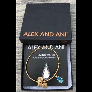 Alex and Ani Living Water Rafaelian Gold Bracelet